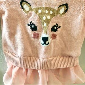 Fawn Tutu baby girl sweater